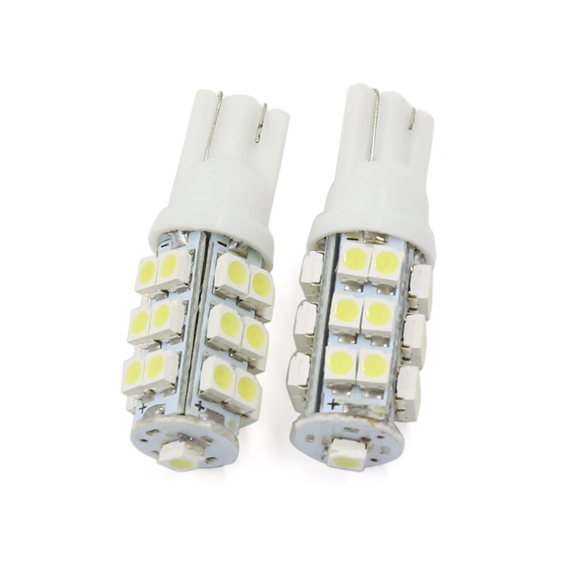 2 Pcs T10 25 SMD 1210 LED Super Bright White Wedge Side Light Bulb Lamp DC 12V