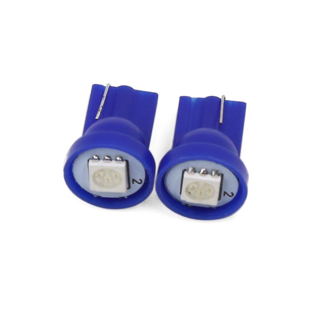 2 Pcs T10 W5W 5050 SMD LED Car Side Wedge Tail Light Lamp Bulb Blue Interior