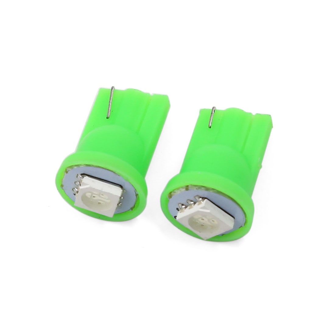 2 Pcs T10 5050 SMD LED Auto Car Instrument Panel Wedge Light Lamp Green Interior