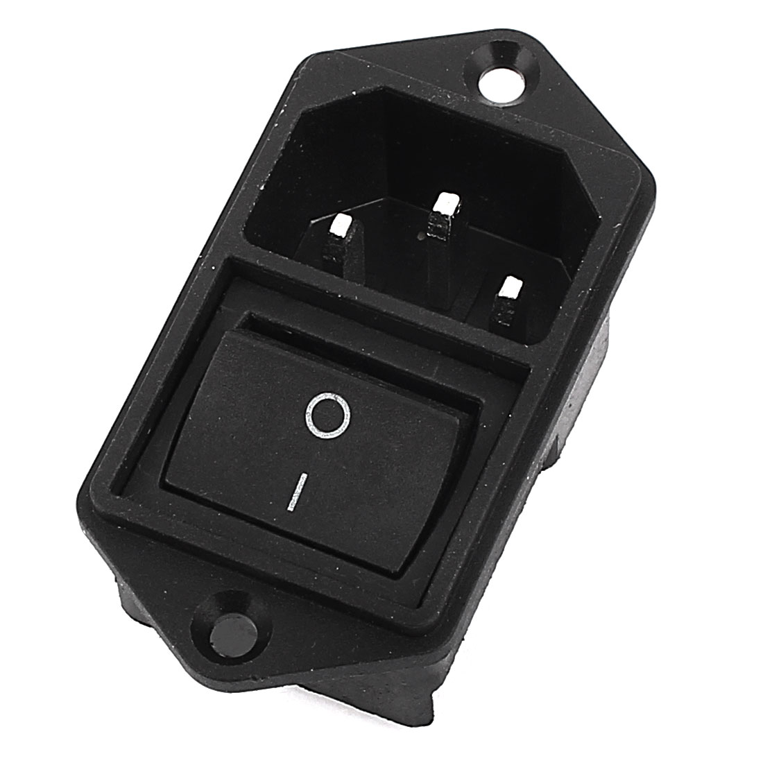IEC320 C14 AC 250V 15A Boat Rocker Switch Power Inlet Connector