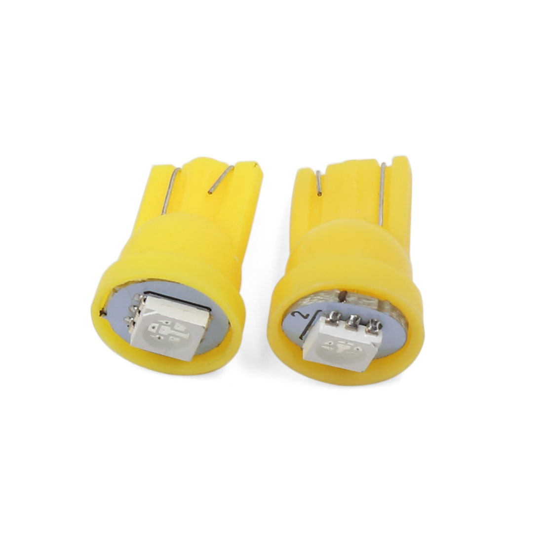 2 Pcs Yellow T10 Wedge 1-SMD 5050 LED Light Bulbs W5W 2825 158 192 168 Interior