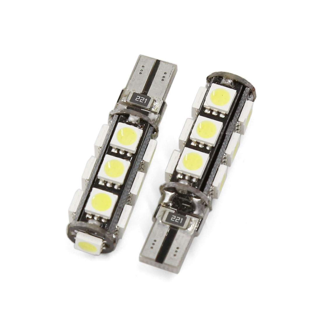2 Pcs Canbus T10 W5W 5050 SMD 13 LED White Car Side Wedge Light Bulb Interior