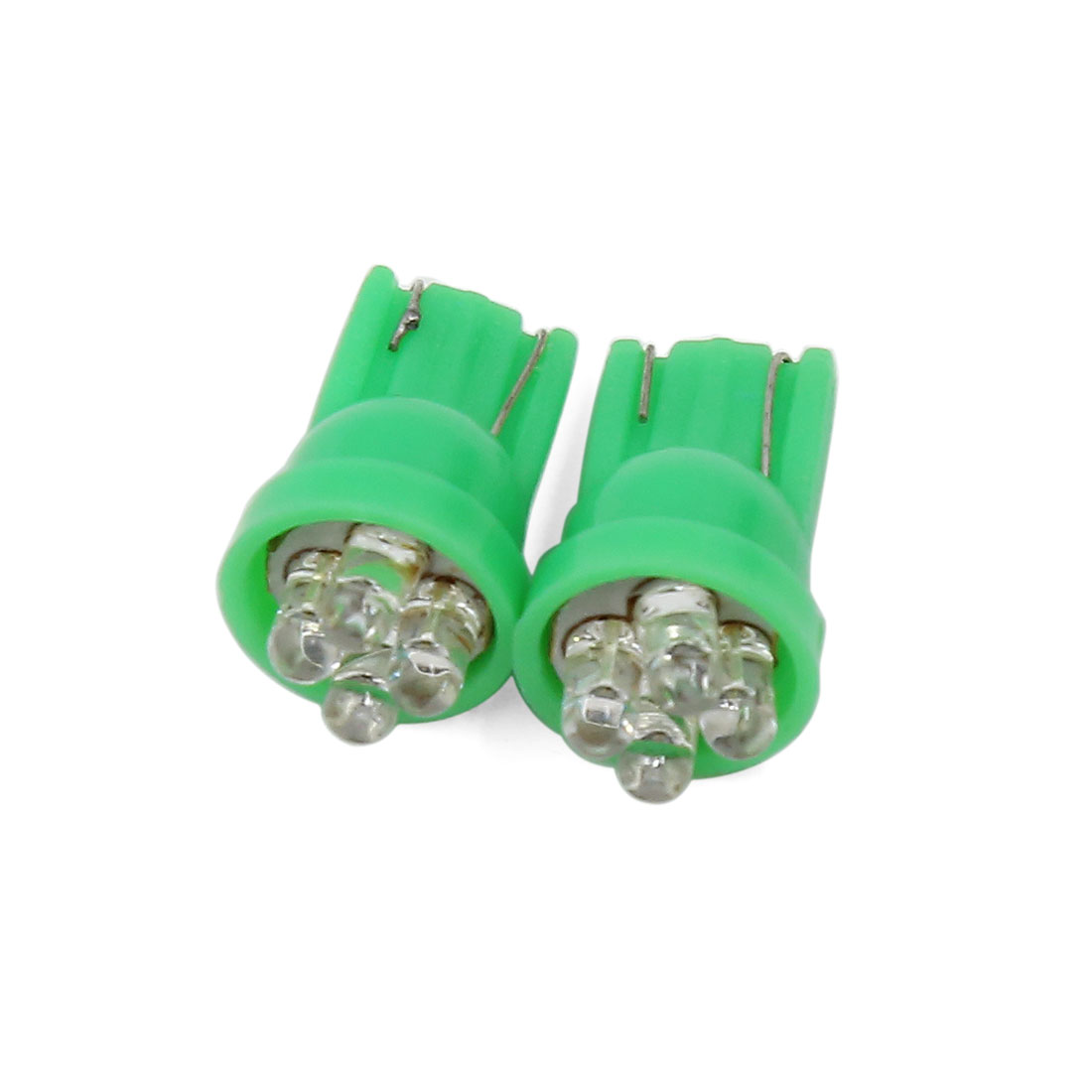 2 Pcs T10 W5W 2825 192 194 168 Green 4 LED Side Wedge Light Bulb DC 12V Interior