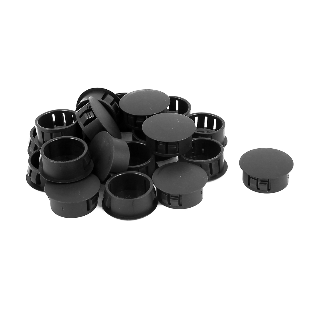 20pcs Plastic 22mm Dia Snap in Type Locking Hole Connectors Button Cover