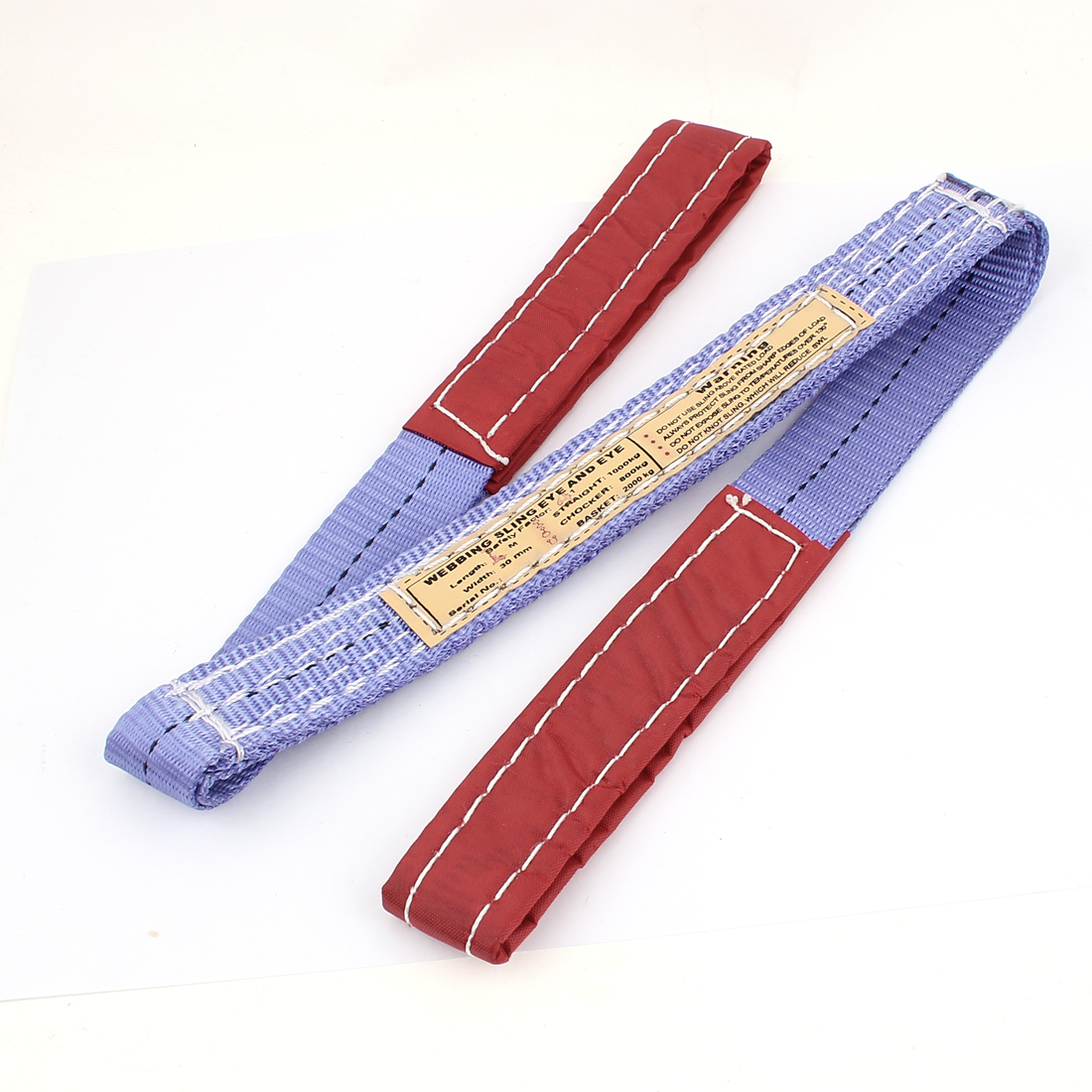 Purple Red 2T Straight Capacity Eye to Eye Web Lifting Tow Strap 1M