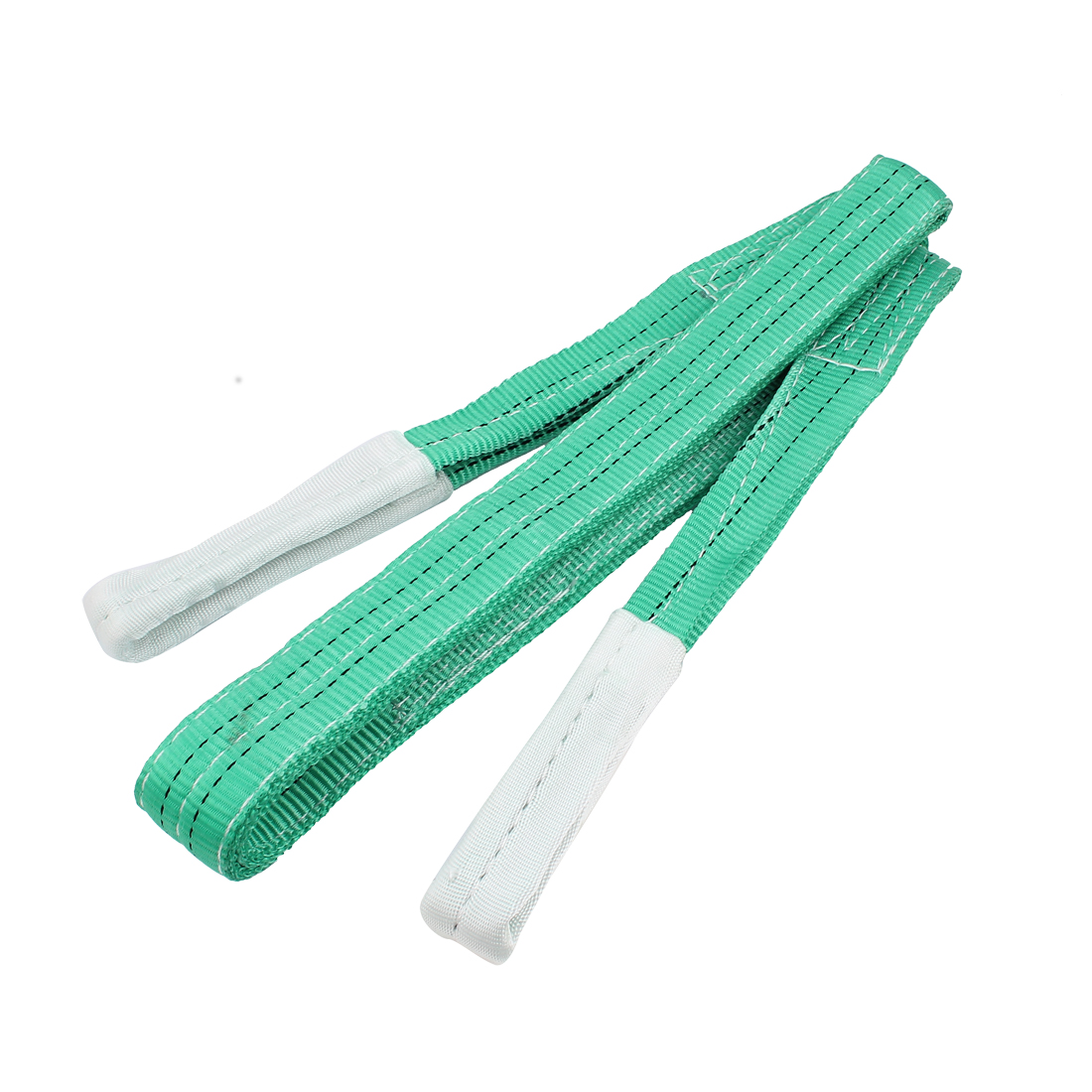 3 Meter 50mm Width Eye to Eye Nylon Web Lifting Tow Strap Green