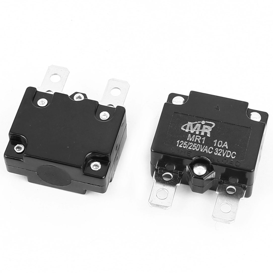 AC 125V/250V 10A NC Automatic Reset Overload Protector Circuit Breaker 2Pcs