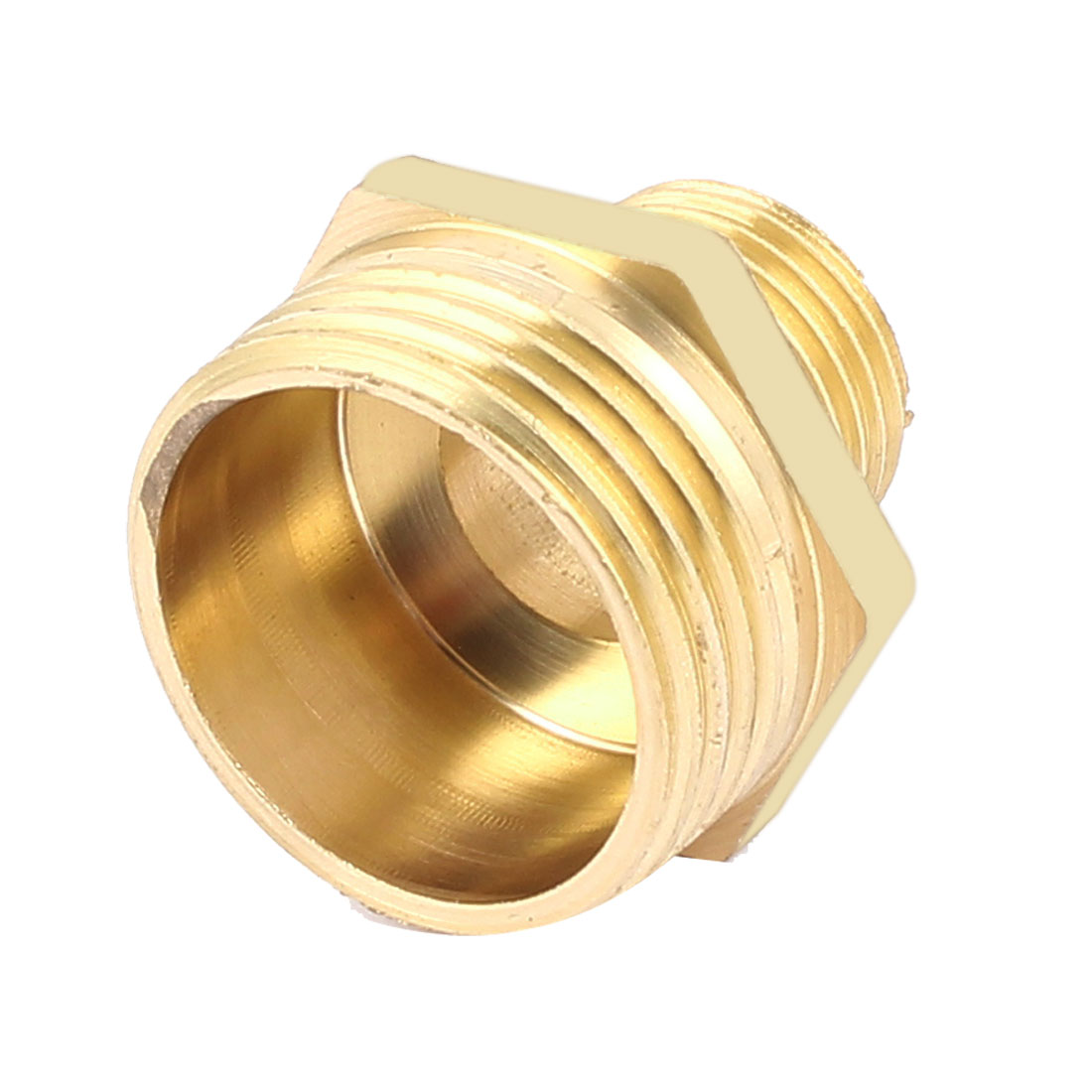 "Male 1/2""BSP x 1""BSP Brass Pipe Reducer Water Oil Air Fuel Hex Nipple Fitting"
