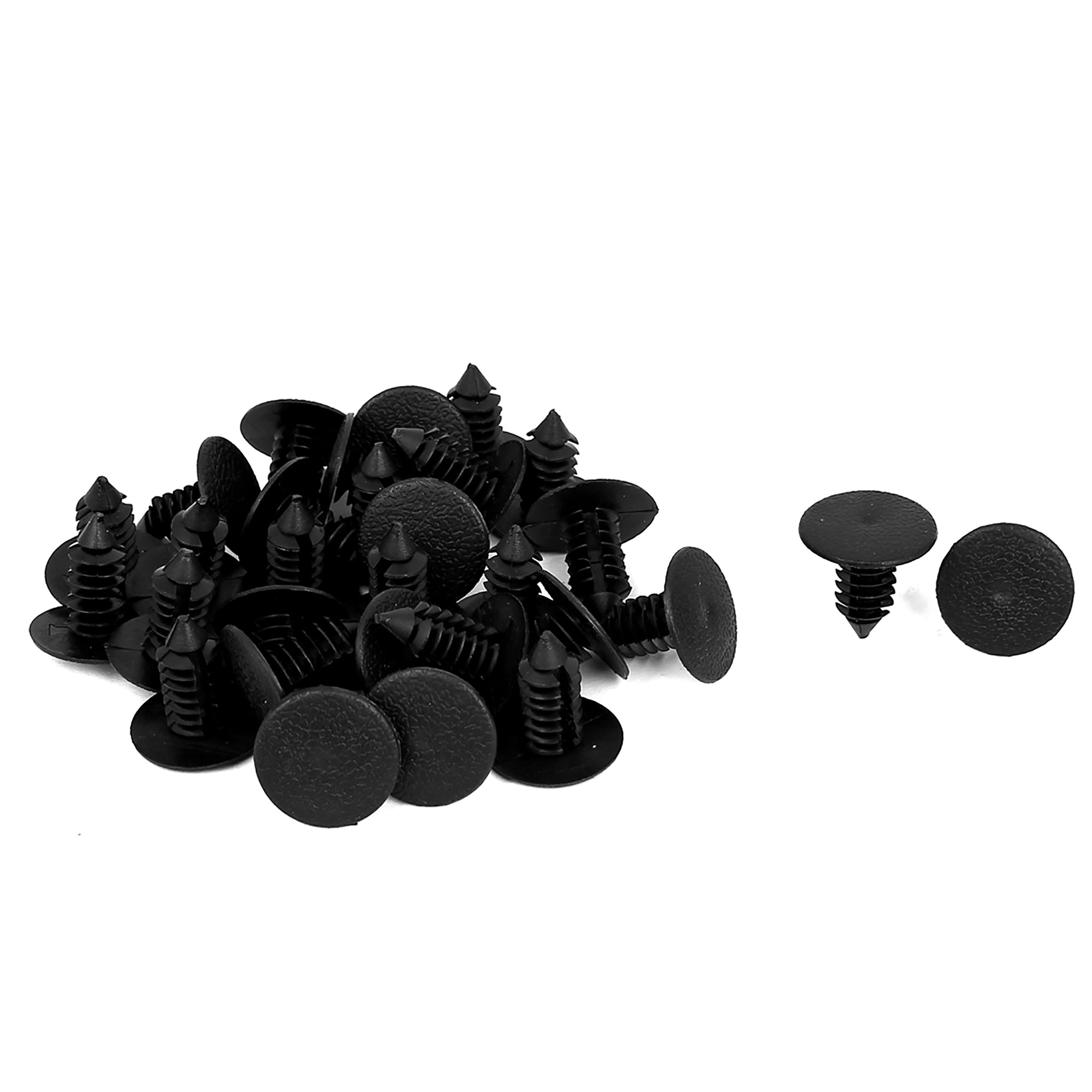 9mm x 8mm Hole Plastic Car Bumper Fender Fir Tree Clips Rivets Retainer 30pcs