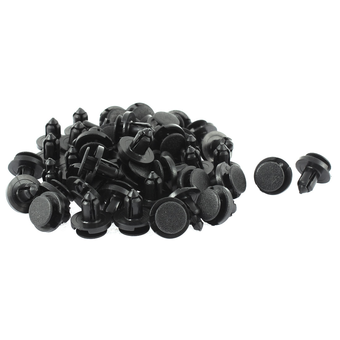 8mm x 18mm x 12mm Plastic Car Bumper Splash Guard Push Clips Rivets 50pcs