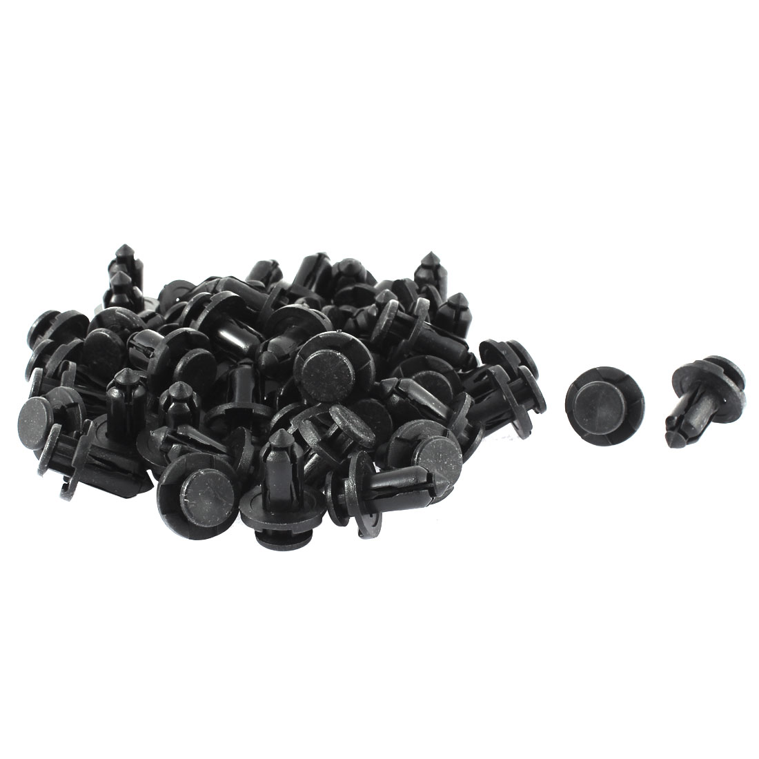 10mm x 20mm x 18mm Plastic Car Bumper Splash Guard Push Clips Rivet 50pcs