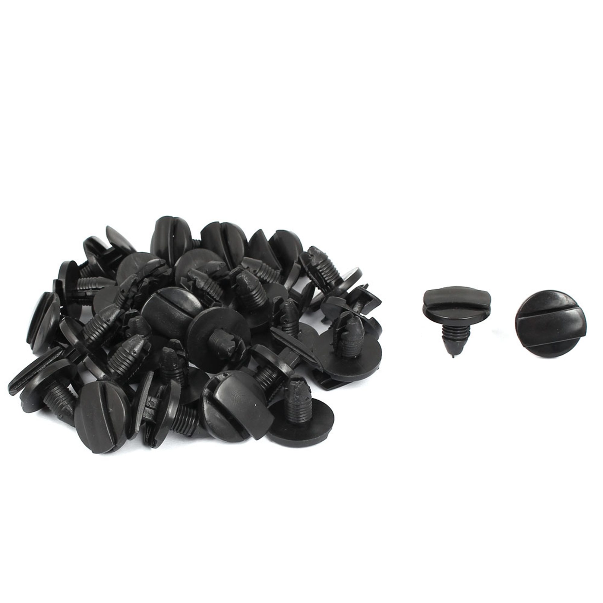 9mm x 8mm Plastic Car Bumper Fender Screw Clips Rivets Fastener 30pcs
