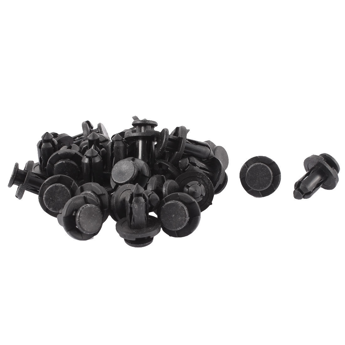 10mm x 20mm x 19mm Plastic Car Bumper Splash Guard Clips Rivets Retainer 30pcs