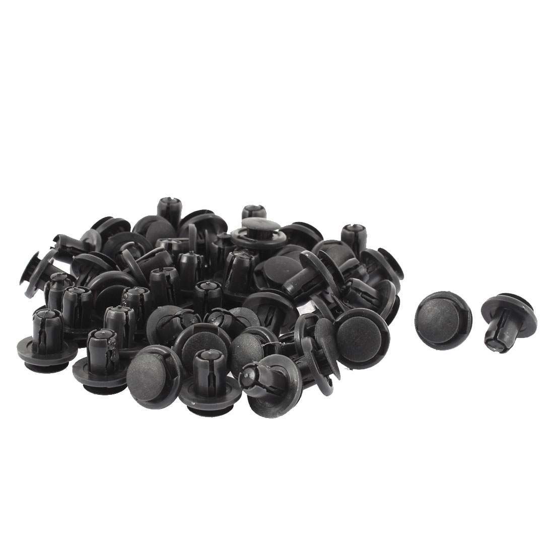 9mm x 18mm x 10mm Plastic Motor Car Bumper Push Clips Rivet Fastener 50pcs