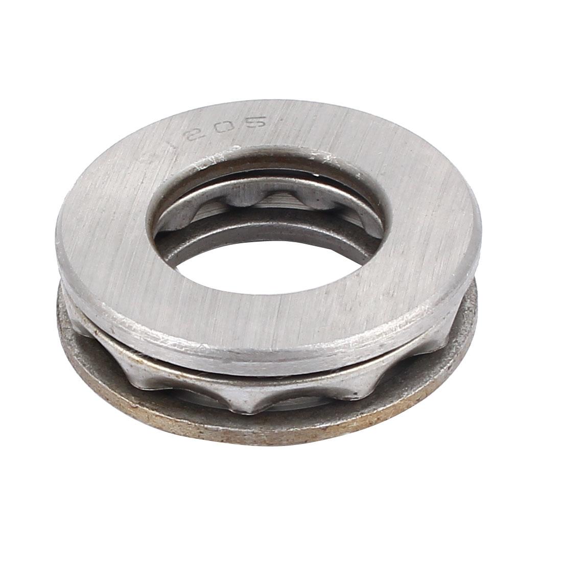 2 Pcs 51205 Axial Ball Single Thrust Bearing 47mm x 25mm x 15mm Silver Gray