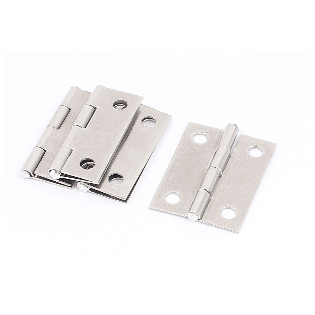"1.5"" Long Drawer Fixing Stainless Steel Butt Hinge Silver Tone 4 Pcs"