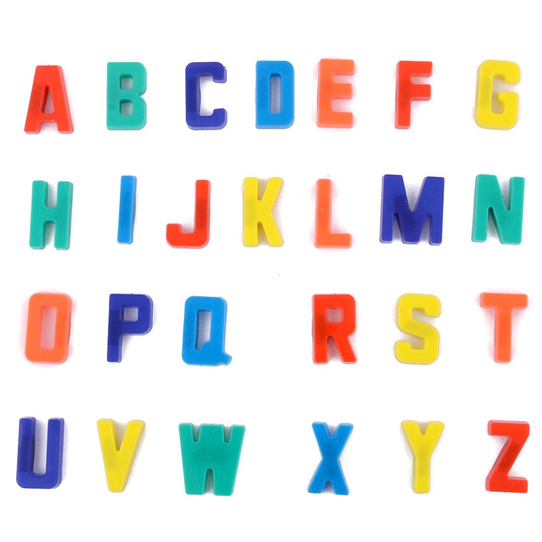 Plastic English Letters Whiteboard Fridge Magnet Multi-color 26 in 1