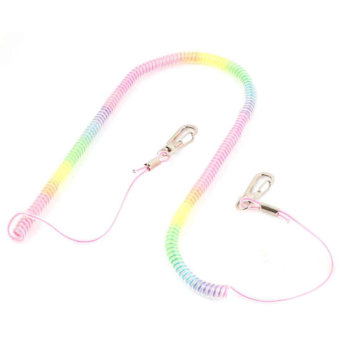 4 Meter Strecthed Coiled Flexible Fishing Lanyard Safety Protector Elastic Rope Cord