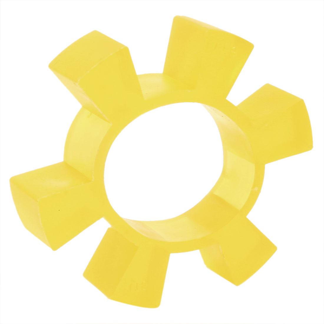 Yellow 6 Petals 115 mm OD 66mm Bore Dia Coupling Buffer Coupler Damper