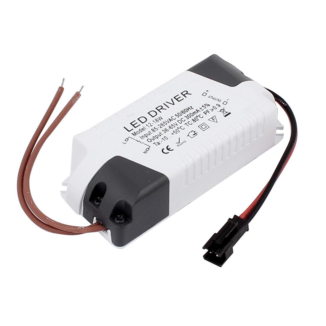 AC85-265V to DC36-65V 12-18W Transformer Ceiling Lamp LED Driver Power Supply