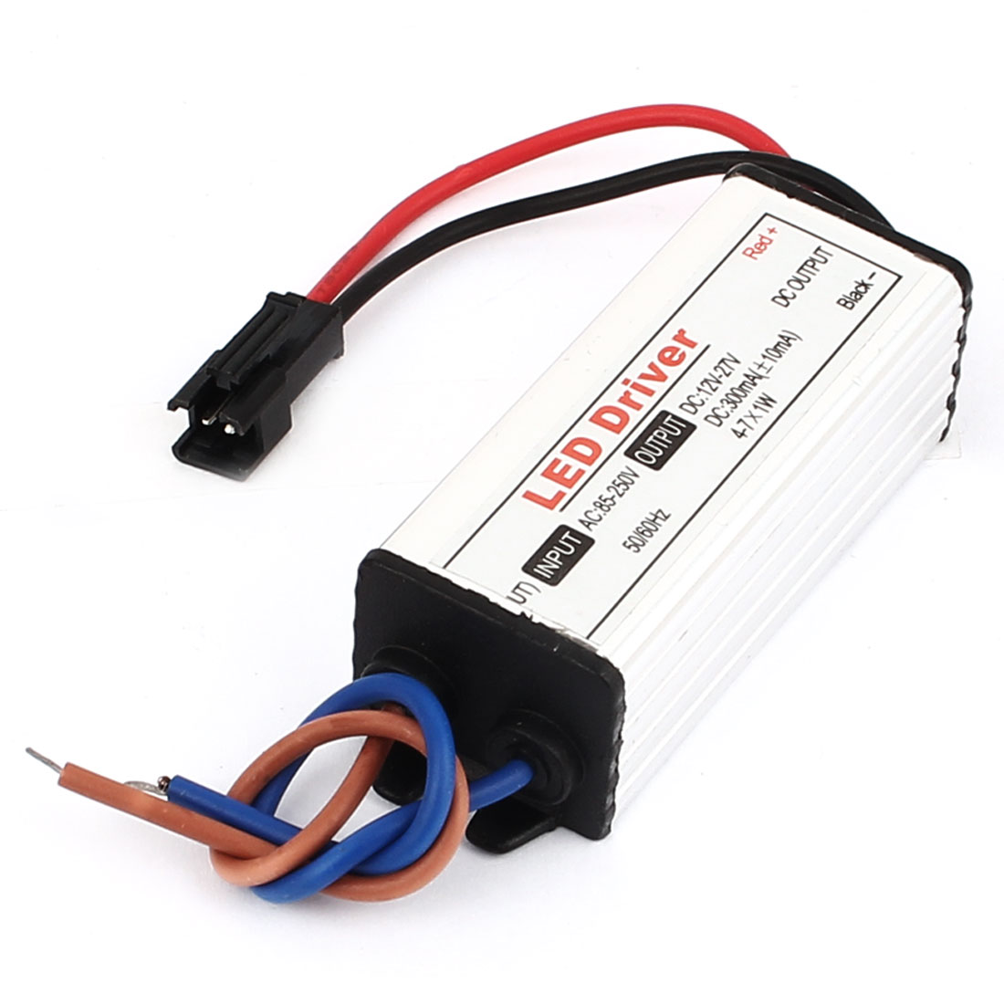 AC85-250V to DC12-27V 4-7x1W Transformer Waterproof LED Driver Power Supply