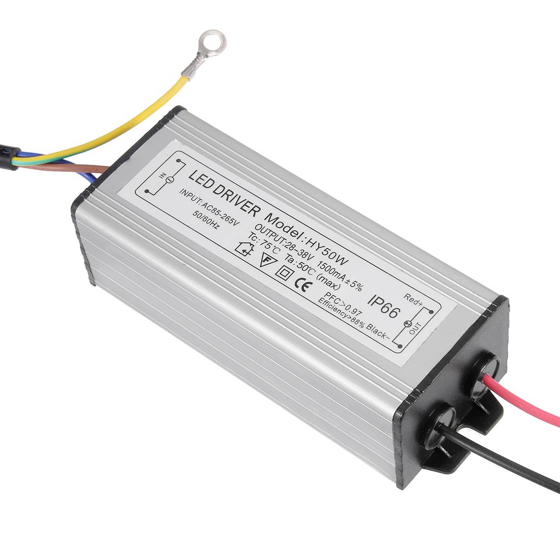 AC85-265V to DC 28-38V 50W Transformer IP66 Waterproof LED Driver Power Supply