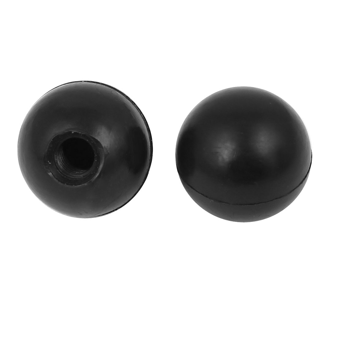 2Pcs Plastic Shell M8x25mm Round Ball Lever Knob Machine Control Grip Black