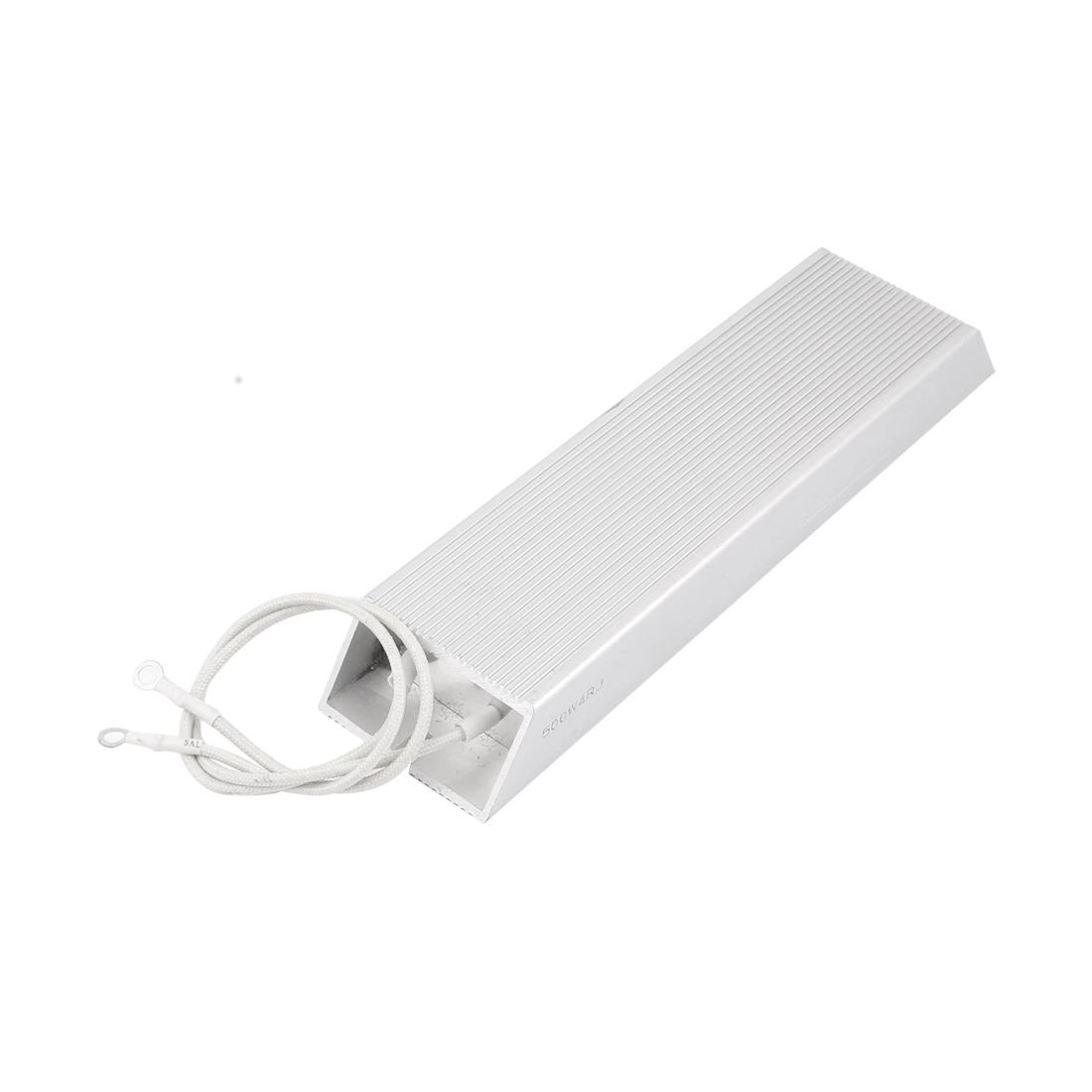 500W 4 Ohm Solder Lug Terminals Aluminium Housing Braking Resistor Resistance