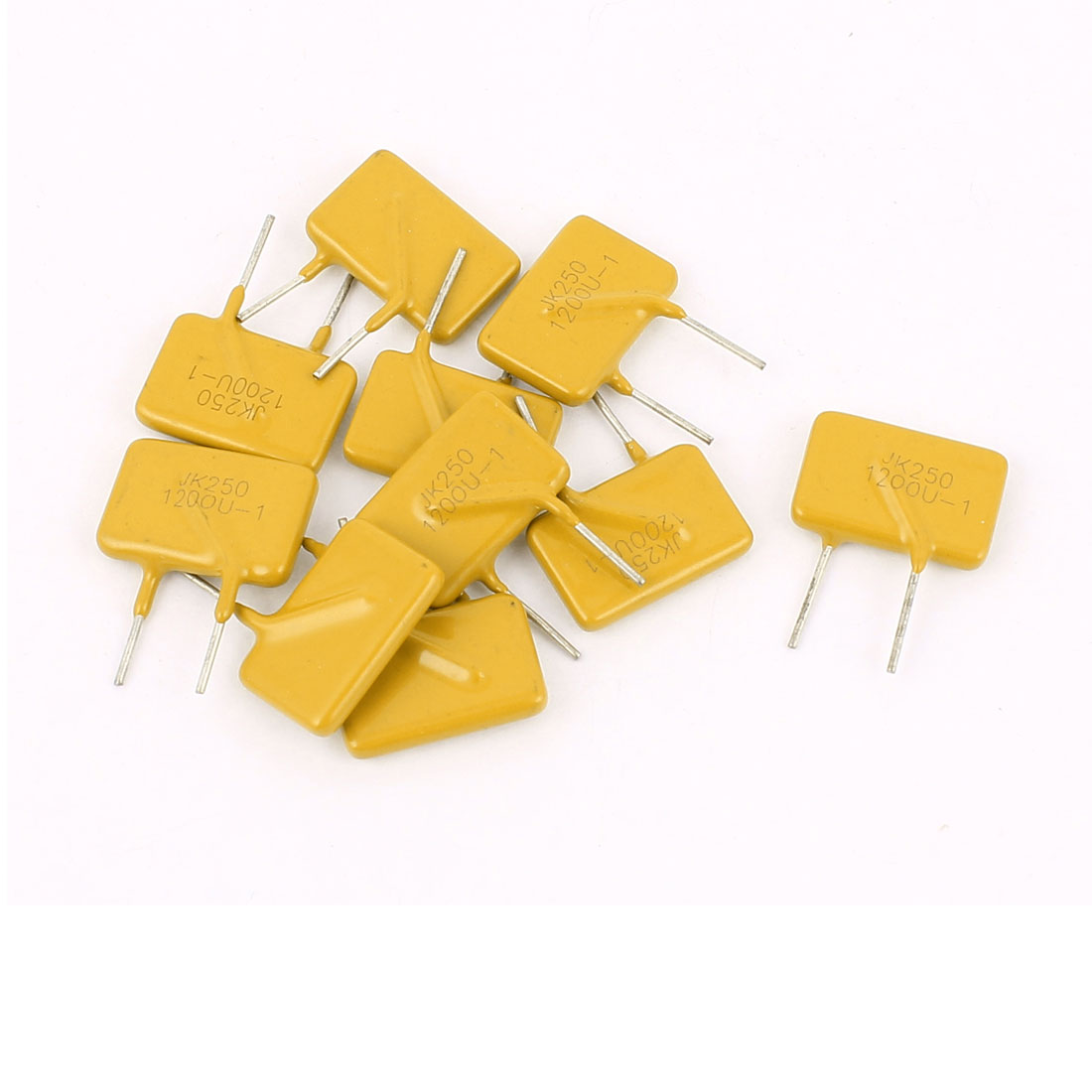 10 Pcs 250V 1.2A Resettable Fuse Radial Through Hole PPTC Polyswitch