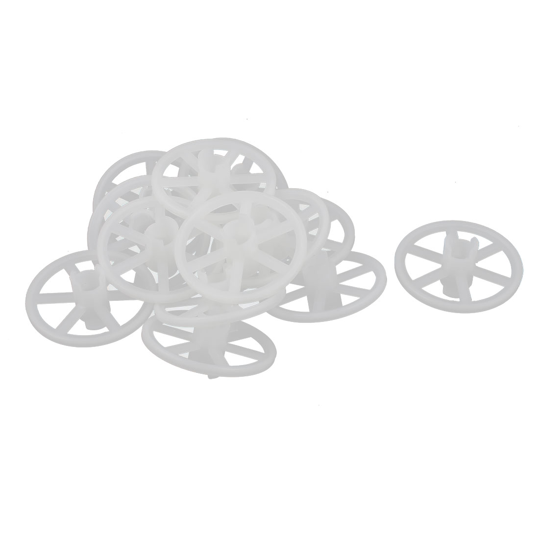 Replacement 10mm x 50mm x 25mm PCB Rubber Coating PP Wheels 13 Pcs
