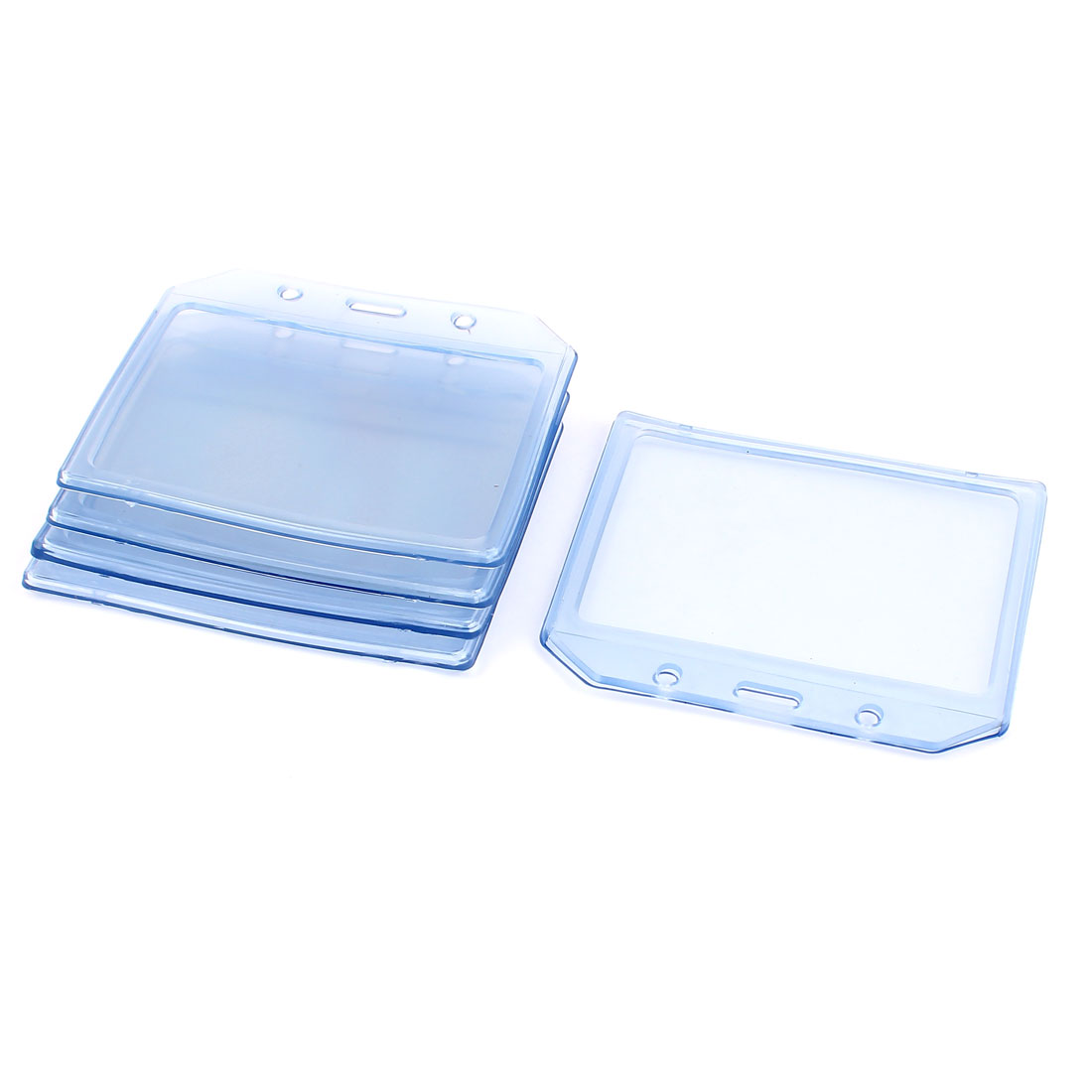5 Pcs 112mmx93mm Plastic Office Name Tag Bussiness ID Card Badge Holders Clear
