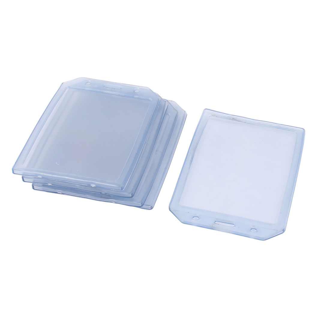 5 Pcs 137mmx97mm Plastic Office Name Tag Bussiness ID Card Badge Holders Clear
