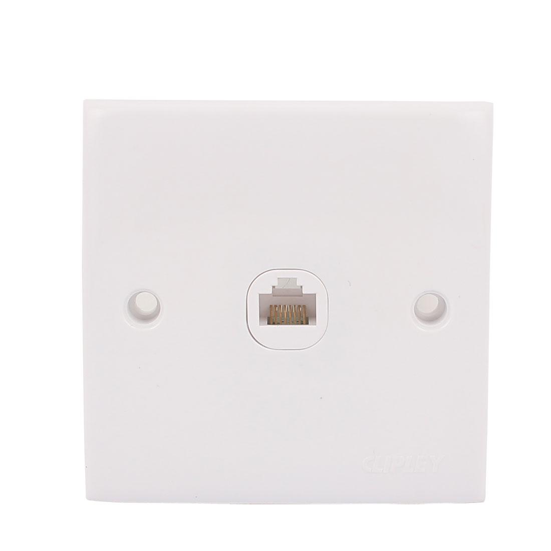 250V RJ45 Jack Port Coupler Ethernet Port Wall Plate Outlet Female Socket White