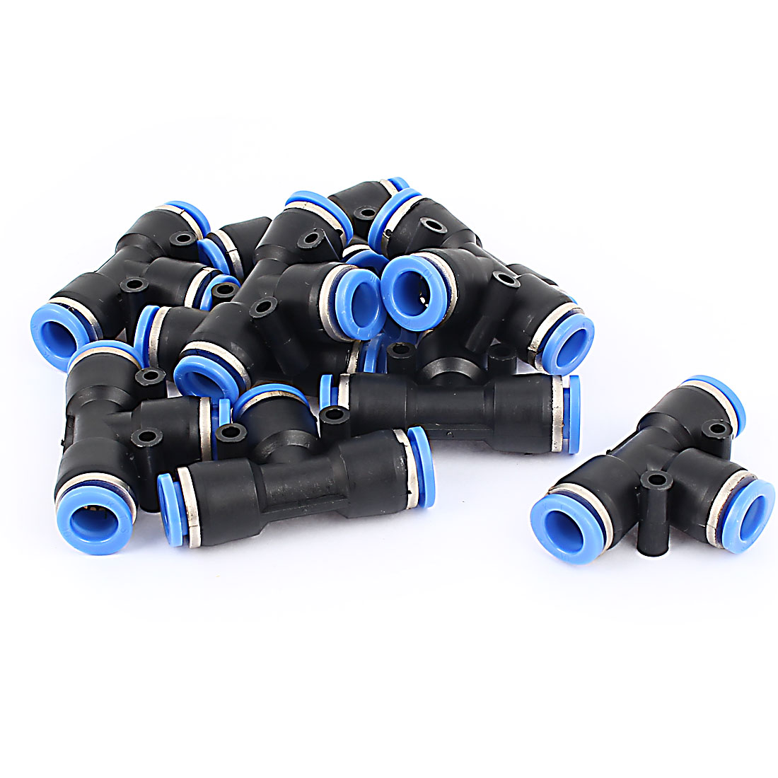 10 Pcs PE10 T Shaped 3 Way 10mm to 10mm Air Pneumatic Quick Fitting Coupler