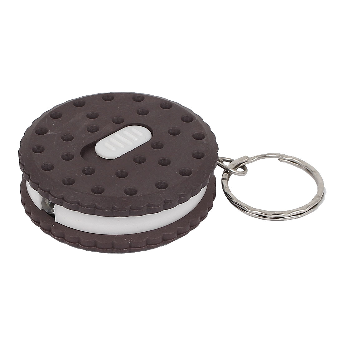 Plastic Chocolate Biscuit Flashlight Torch Pendant Keychain Keyring Key Holder