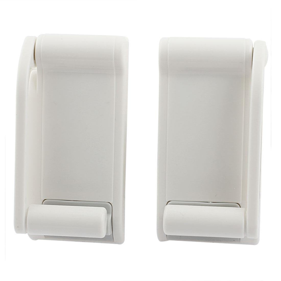 Plastic Adjustable Magnet Kitchen Bathroom Paper Tissue Holder Bracket Off White