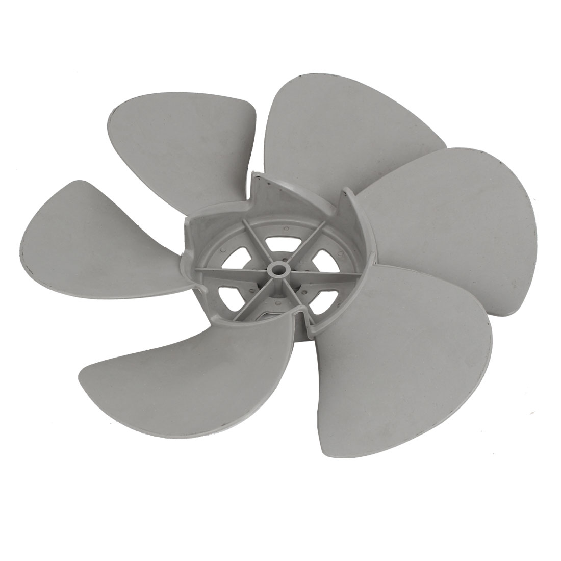 30cm Diameter 8mm Shaft Hole Plastic Home Kitchen Ventilator Fan Vane Gray