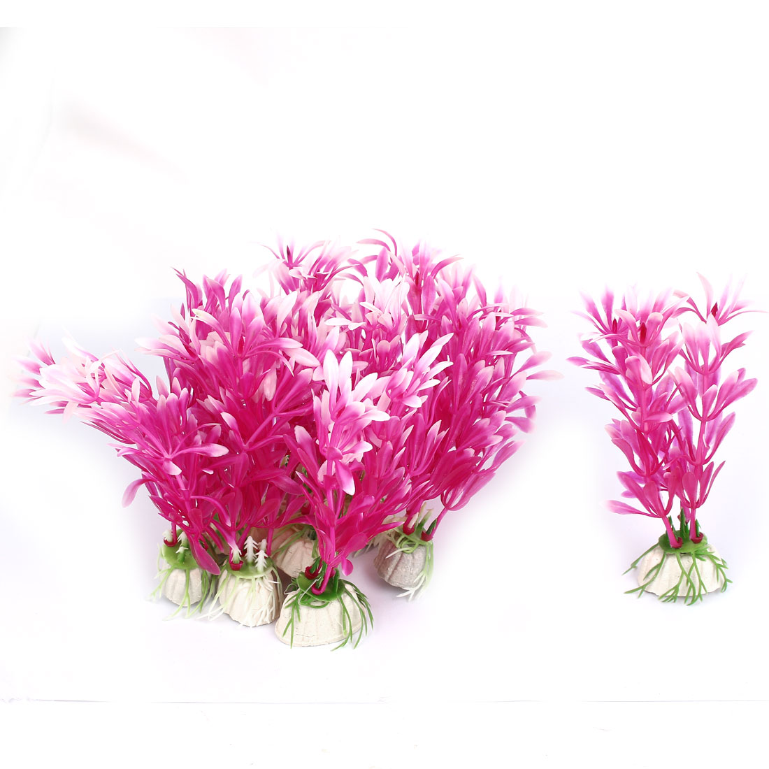 Aquarium Fish Tank Artificial Fake Flower Plant Decor Ornament Fuchsia 10Pcs