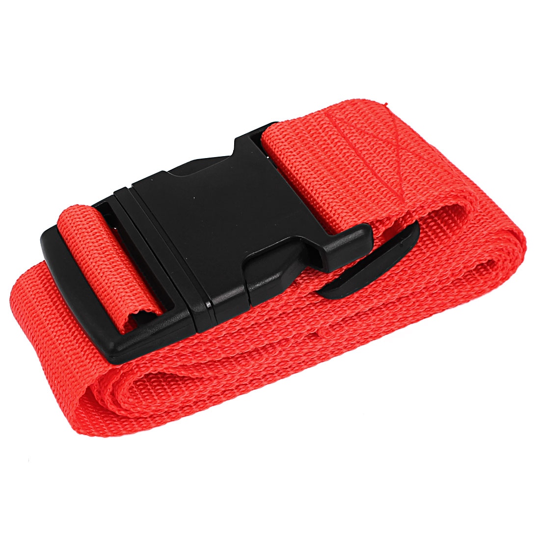 Side Release Buckle Luggage Suitcase Backpack Baggage Adjustable Belt Strap Red 2M