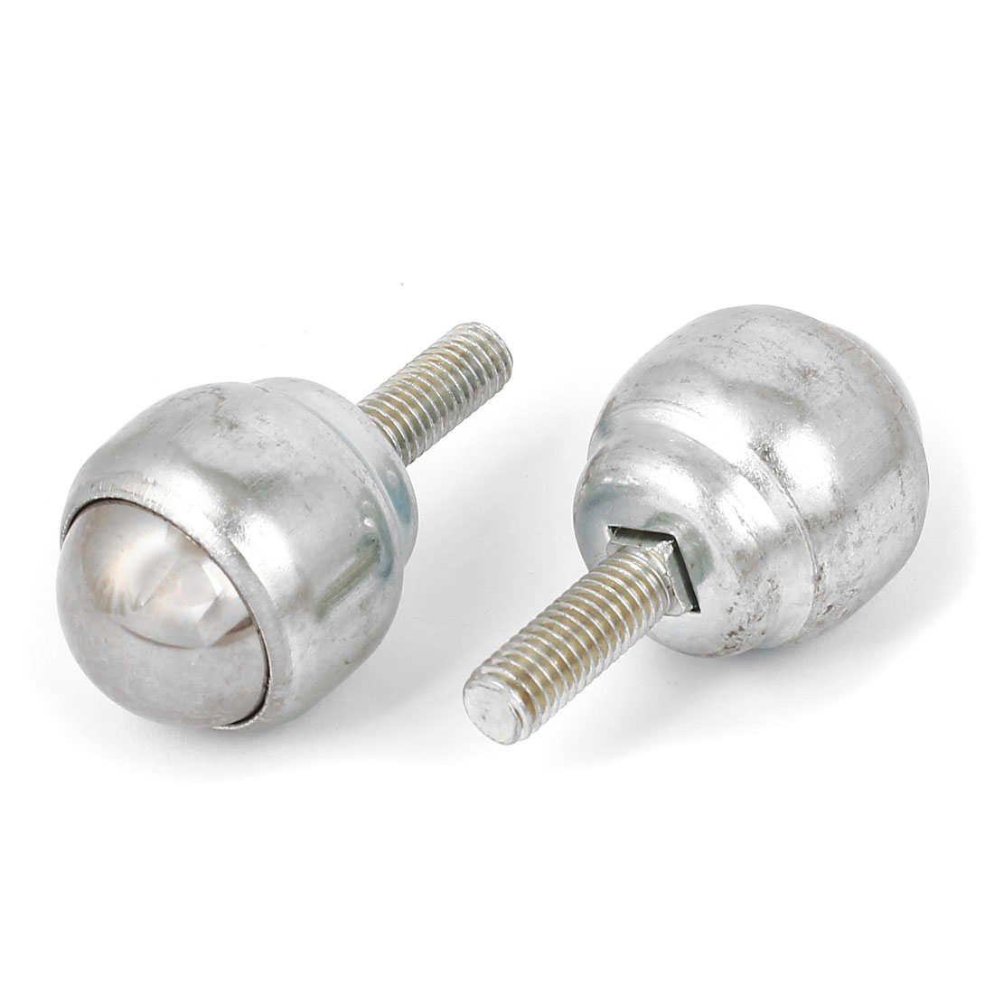 M8 Male Thread Bolt Type Ball Transfer Bearing Unit Roller Silver Tone 2Pcs