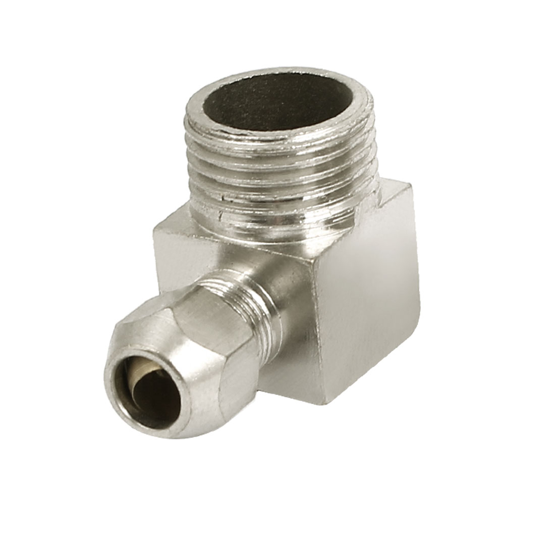 1/2BSP Male Thread L Type Quick Release Coupler Fitting Connector Silver Tone