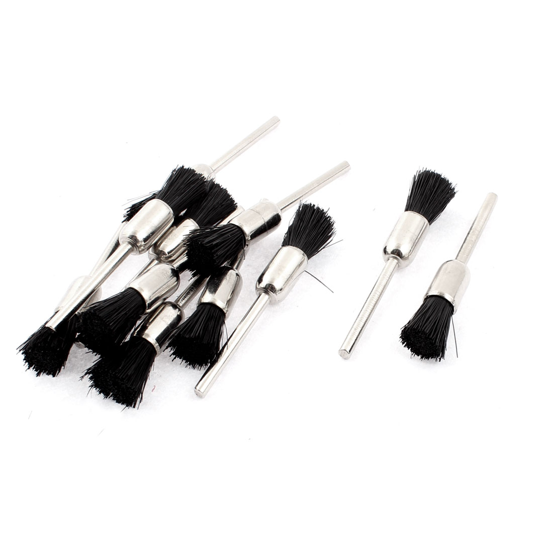 Rotary Tool Polishing Jewelry Repairing 8mm Dia Nylon Bristle Brush Black 12pcs