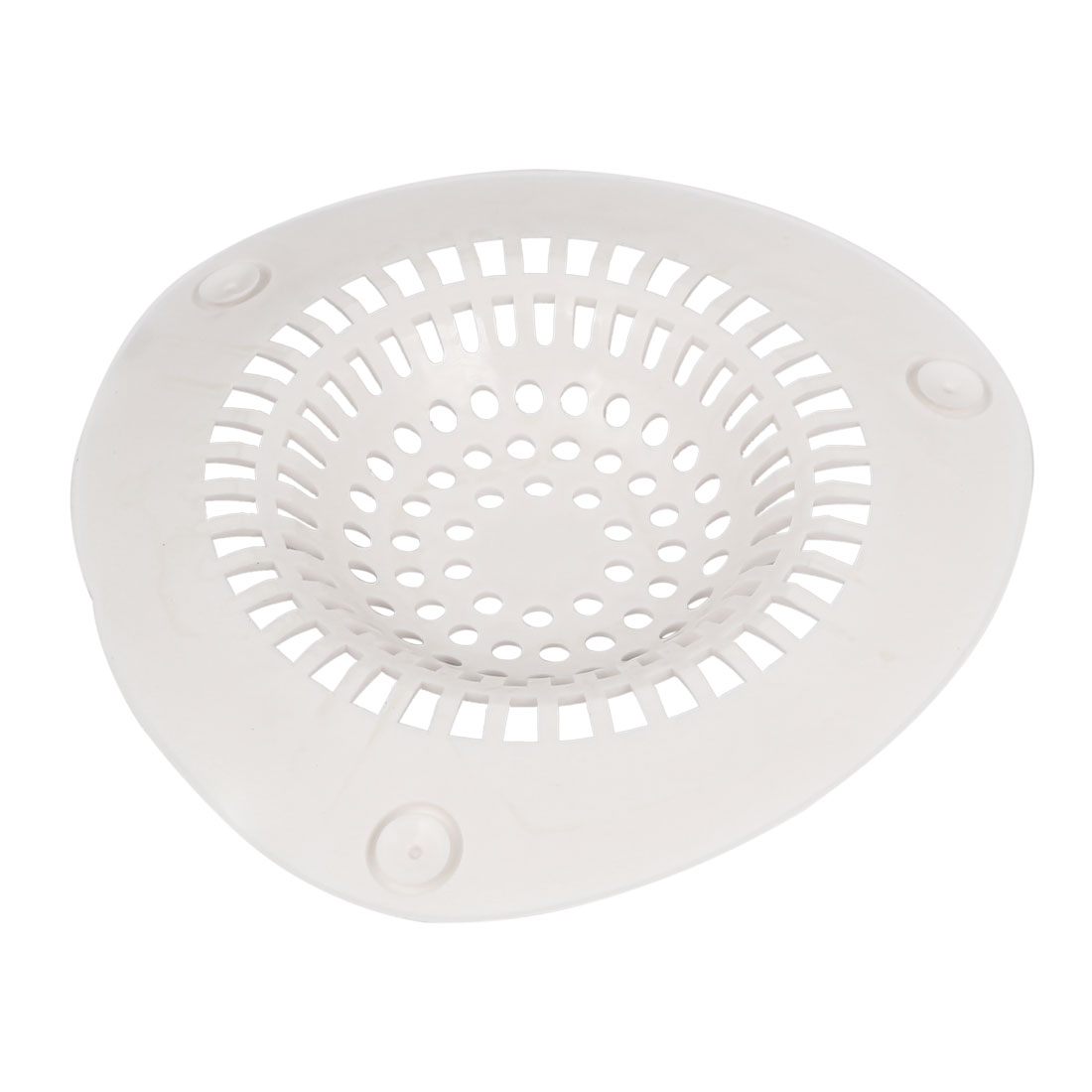Kitchen Bath Waste Strainer Filter Net Drain Hair Stopper Catcher Off White