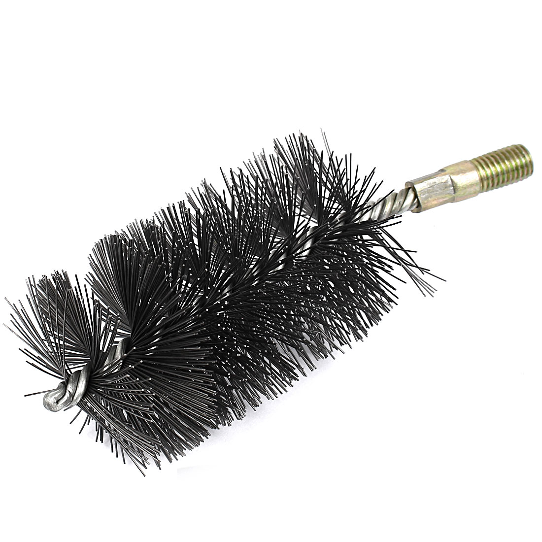 12mm Male Thread 60mm Diameter Round Steel Wire Pipe Tube Cleaning Brush