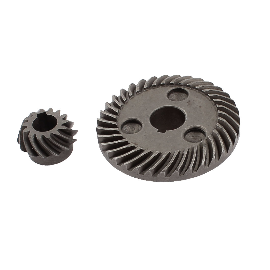 Spare Part Electric Angle Grinder Spiral Bevel Gear Set Dark Gray for Hitachi 100