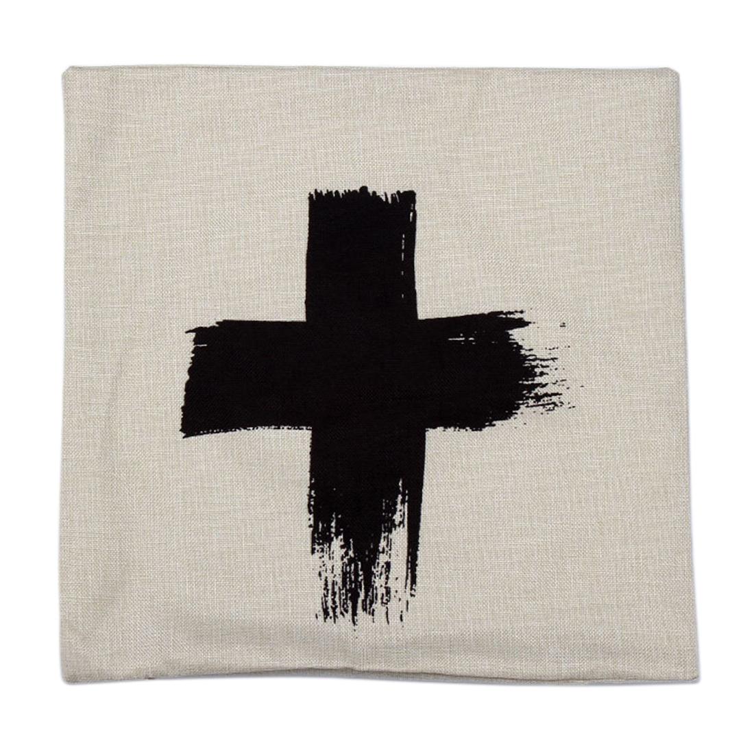 Piccocasa Home Sofa Decor Cross Pattern Waist Throw Pillow Cushion Cover Case