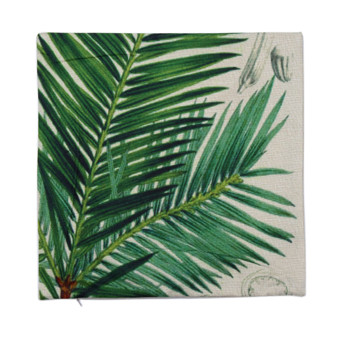 Piccocasa Sofa Sago Cycas Leaves Waist Throw Cushion Cover Pillow Case