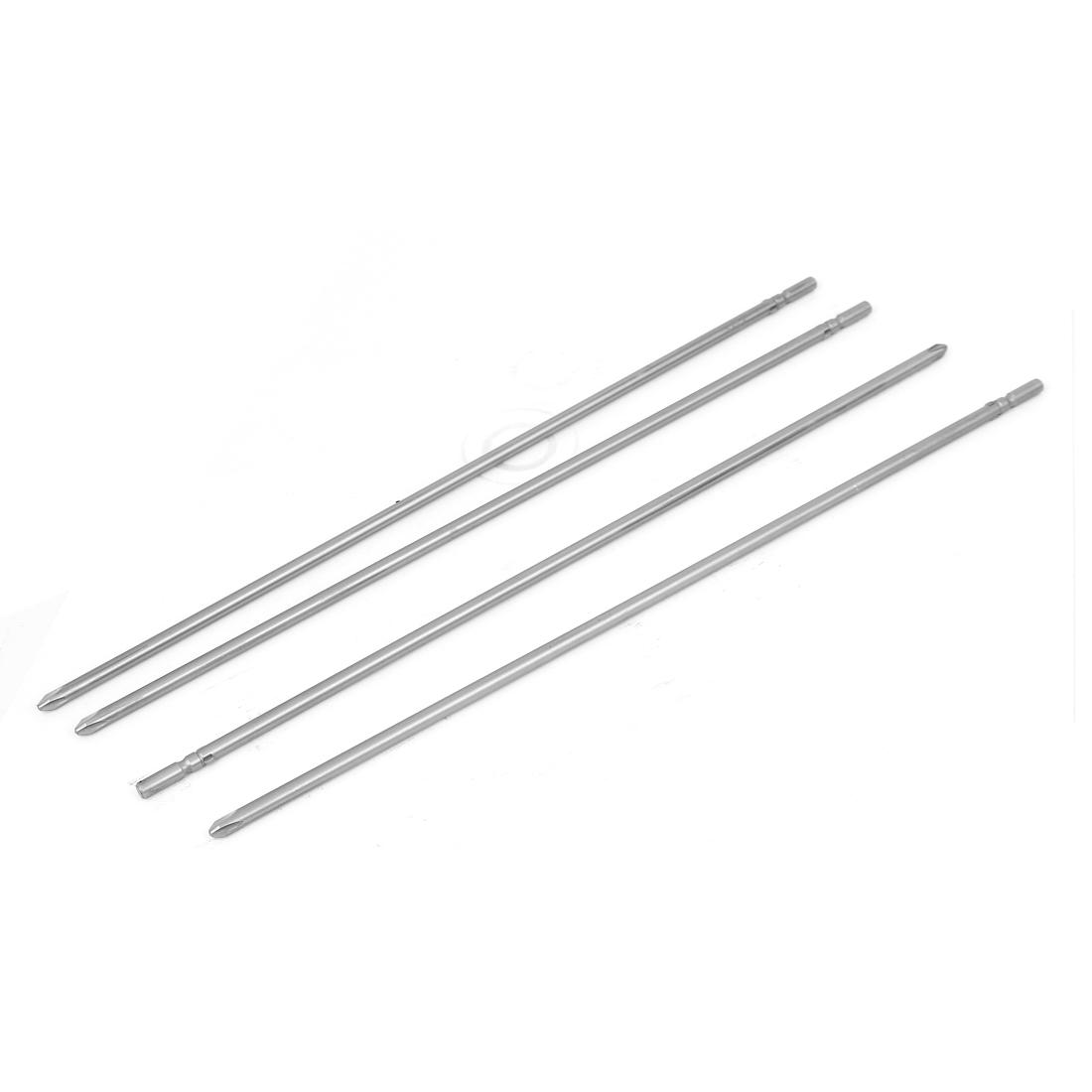 Magnetic PH2 5mm Phillips Cross Head Screwdriver Bit Tool 300mm Length 4pcs