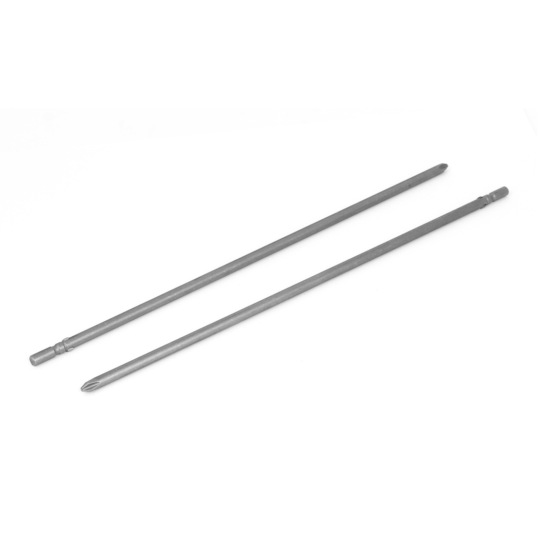 Magnetic PH2 6mm Phillips Cross Head Screwdriver Bit Tool 300mm Length 2pcs