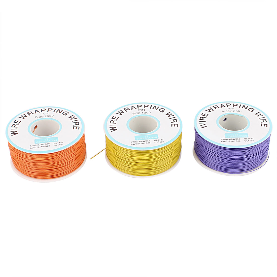 3PCS PCB Solder Flexible 0.25mm Dia Copper Wire 30AWG Wrapping Wrap 1000Ft